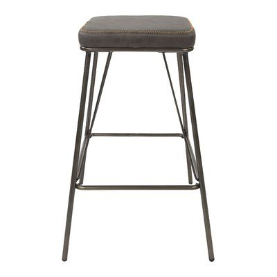 Williston Forge Mellinger Bar Counter Stool Upholstery Charcoal