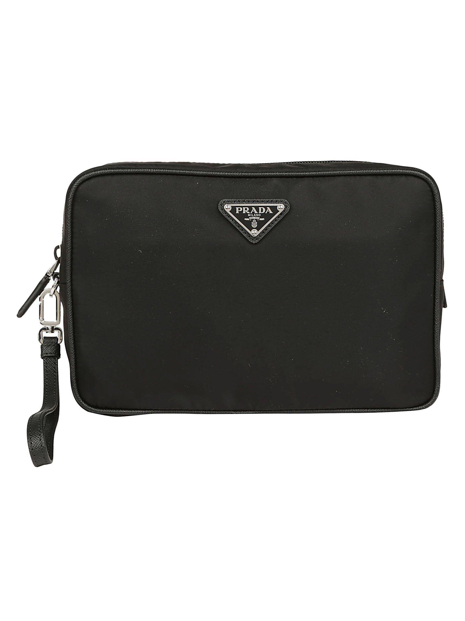 PRADA PRADA BEAUTY LOGO PLAQUE TOILETRY BAG.  prada  bags  leather ... 3ec5b1d253