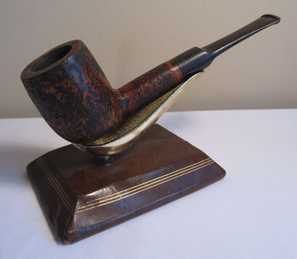 Vintage estate pipe dr grabow golden duke filtered pipe imported briar - Vintage The Tinder Box Lugano Straight Lovat Billiard Estate Briar Tobacco Pipe