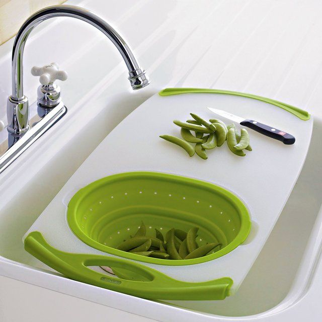 Nonslip Over The Sink Cutting Board