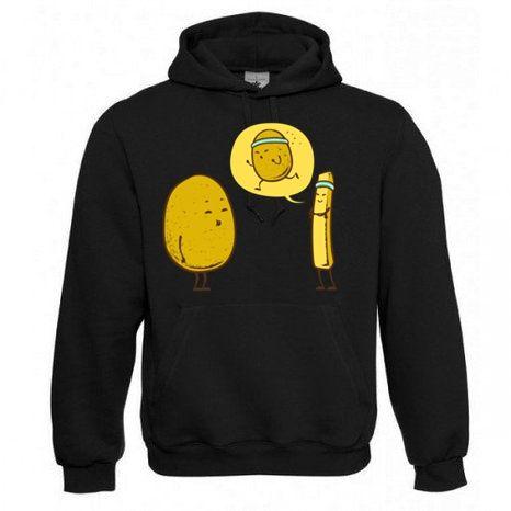 "Kapuzen Sweatshirt ""Sports Potato"" Fruit of the Loom, Beuteltasche, 80% Baumwolle"