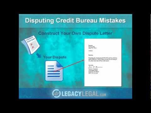How To Write Effective Credit Report Dispute Letter  Youtube
