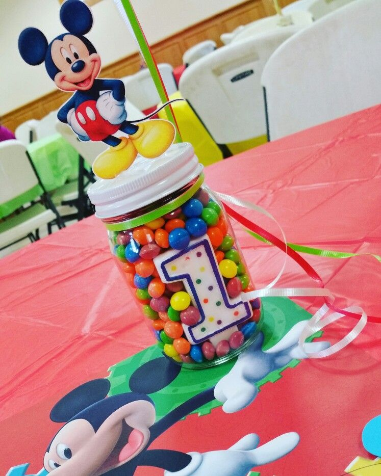 Mickey Mouse Clubhouse Theme Birthday Centerpiece