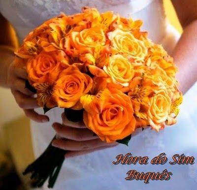 Rosas laranja e amarelas