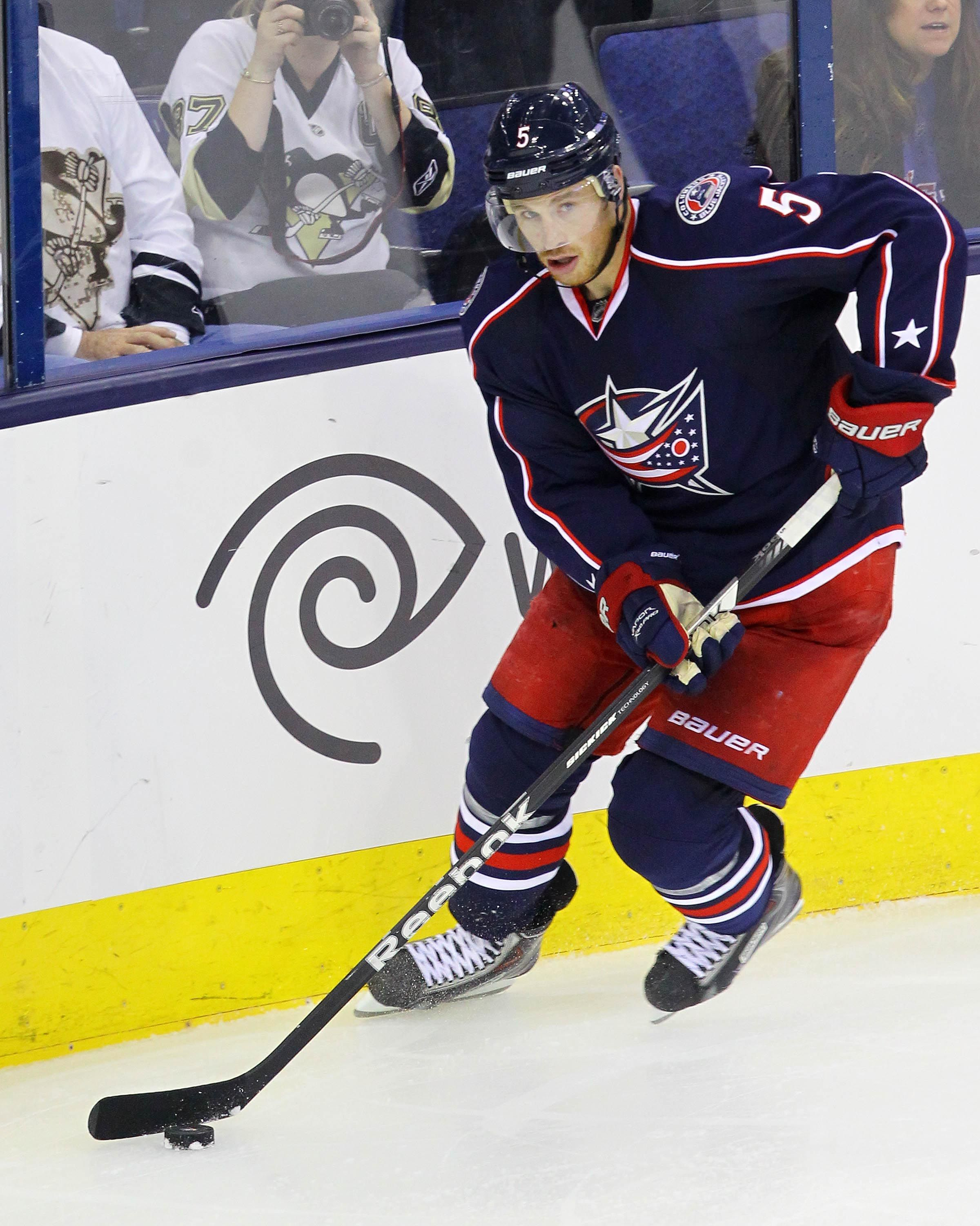 CrowdCam Hot Shot: Columbus Blue Jackets forward Jack Skille skates with the puck during the 3rd period of the game against the Pittsburgh Penguins at Nationwide Arena. Photo by Rob Leifheit