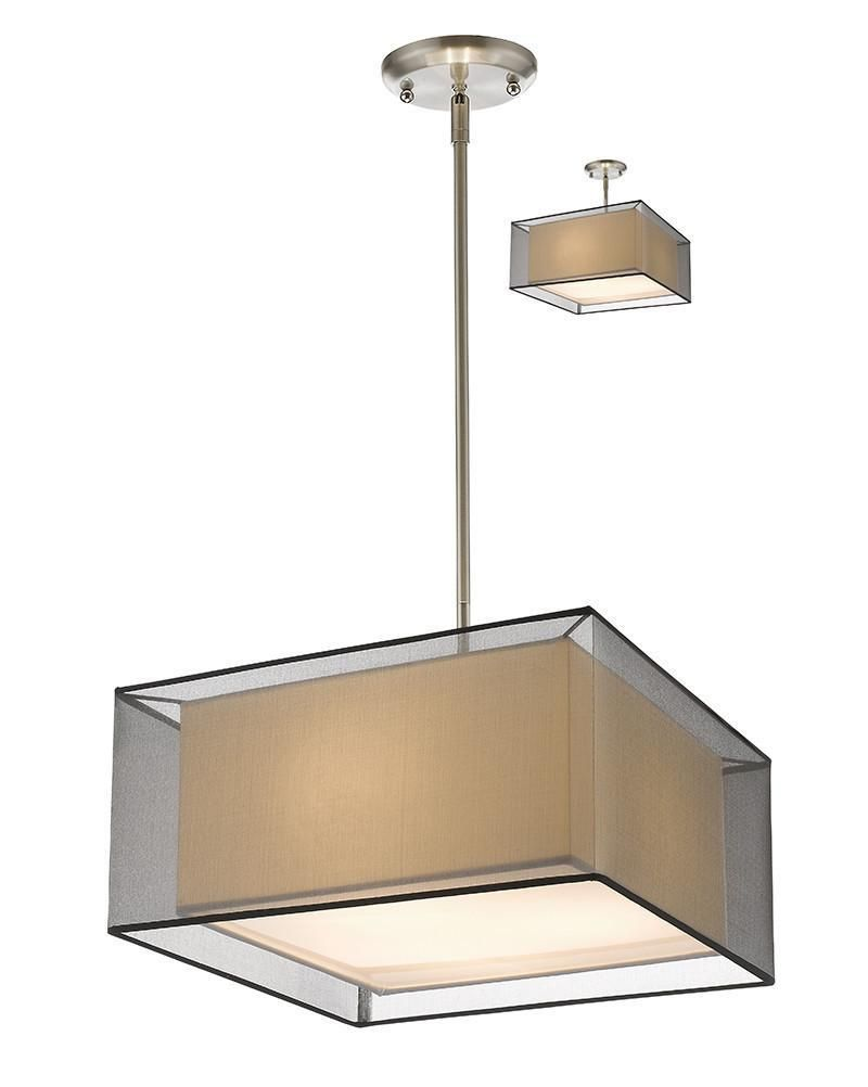 Z-Lite 193-18BK-C 3 Light Convertible Pendant