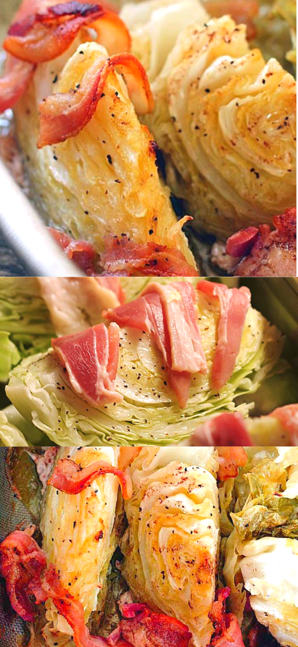BAKED CABBAGE #chickensidedishes