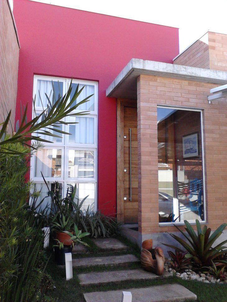 Fachadas de casas pequenas e modernas 100 fotos lindas e inspiradoras FACHADA in 2019 Casas  -> Decoracao De Casas Modernas