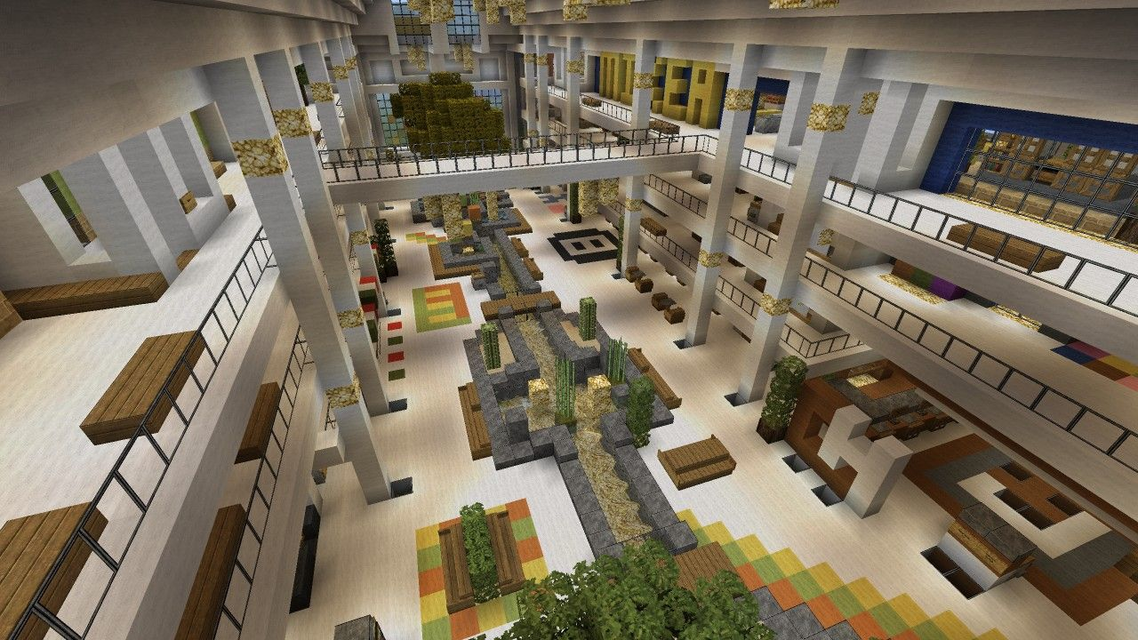 Mall Shopping Center Beach Town Project Minecraft Project Minecraft City Minecraft Projects Minecraft Shops