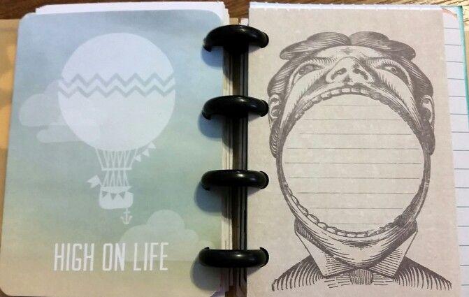 Disc bound journal card album