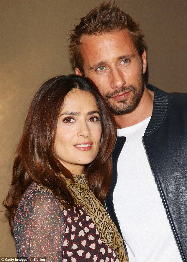 Famous friends: The beauty was joined by Belgian actorMatthias Schoenaerts at the Kering ...
