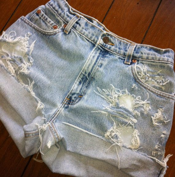 Distressed by these High Waisted Shorts