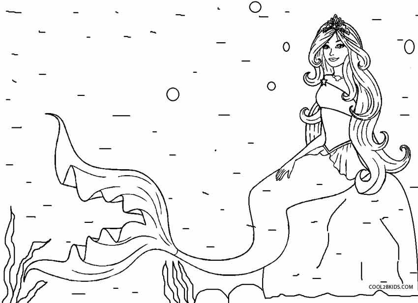 Printable Mermaid Coloring Pages For Kids | Cool2bKids