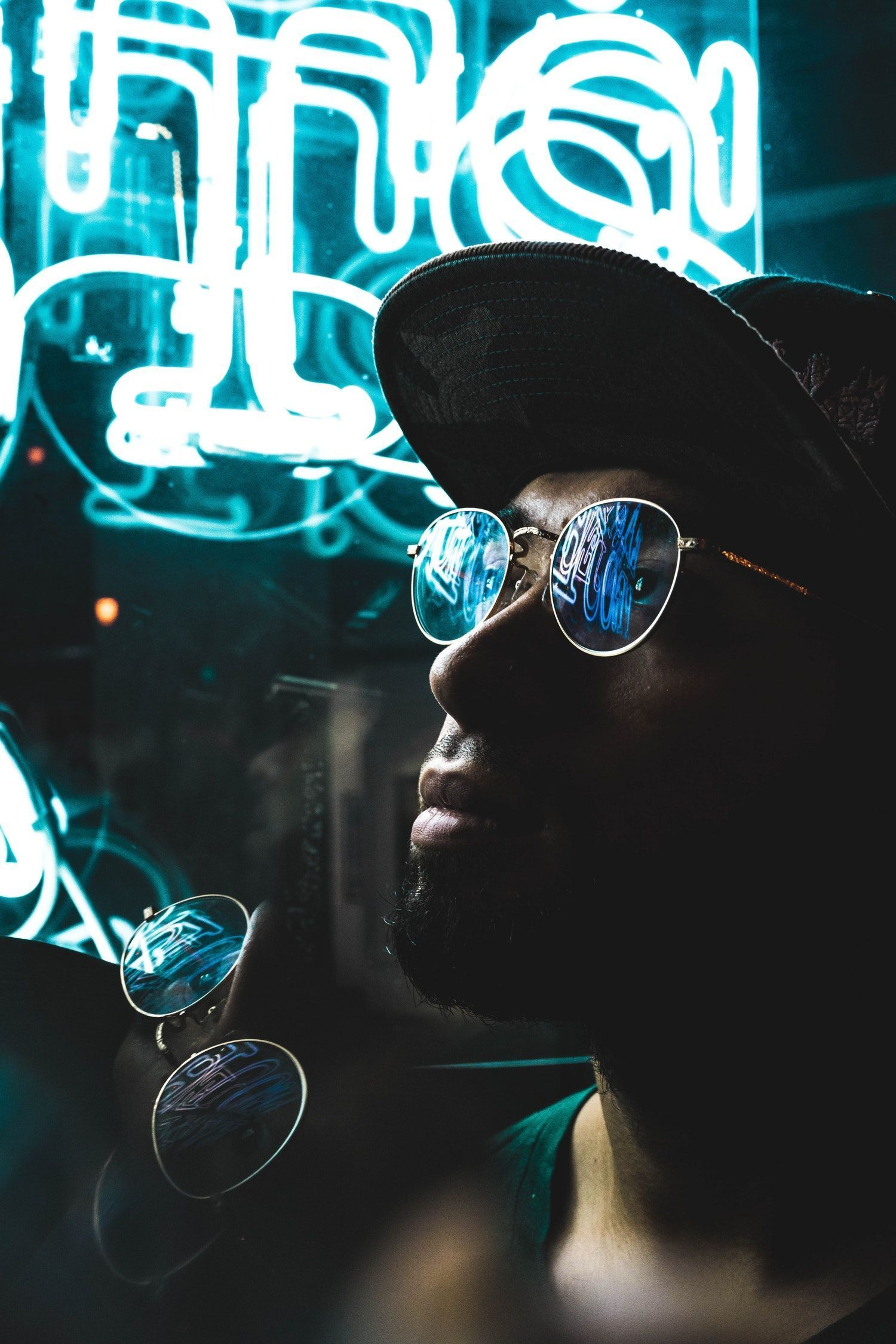 African American Student Pictures | Download Free Images on Unsplash -  The portrait of an urban man at night in the street by neon light  - #