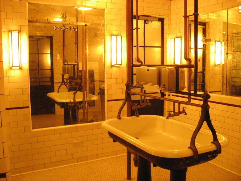 Bathroom Sinks Nyc schiller's nyc bathroom | commercial spaces | pinterest