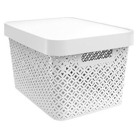 Room Essentials Decorative Large Bin White Target Decorative Storage Bins Storage Bins With Lids Decorative Storage