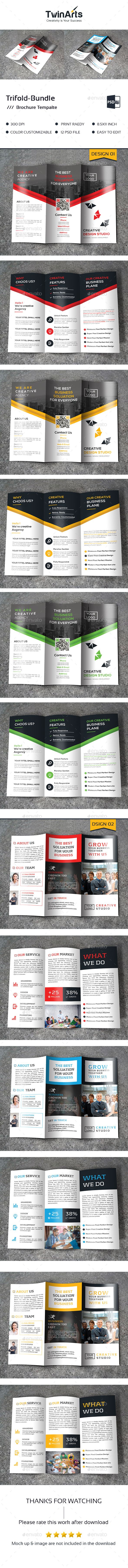 Tri-fold Brochure Bundle Templates PSD. Download here: http://graphicriver.net/item/trifold-bundle_2-in-1/16254670?ref=ksioks