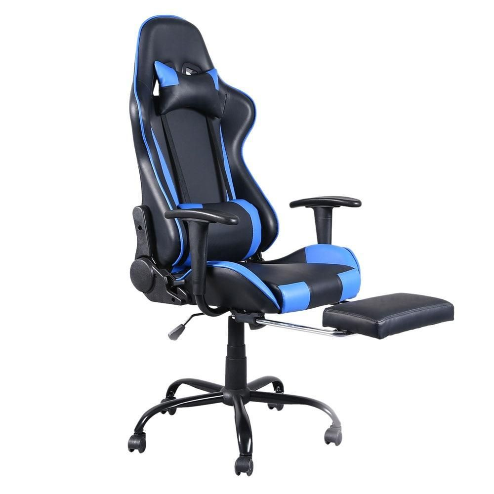 Wondrous Swivel Chair 360 Degree Racing Gaming Office With Footrest Squirreltailoven Fun Painted Chair Ideas Images Squirreltailovenorg