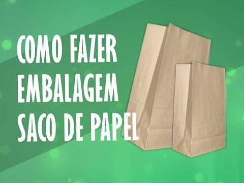 DIY | Como Fazer Embalagem de Papel - Sacola Papel Kraft - YouTube