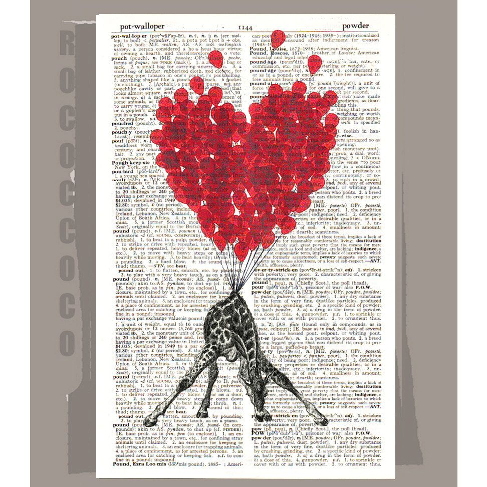 LOVE Carries All3 even a Giraffe   ORIGINAL ARTWORK by RococcoCo, $9.95