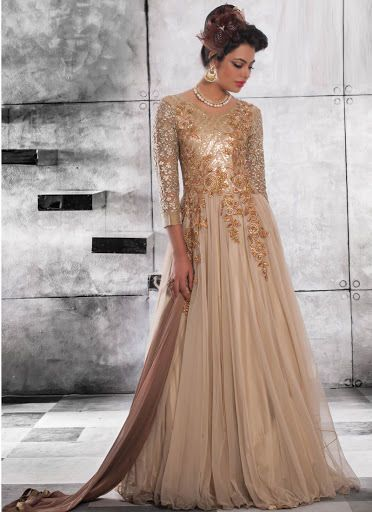 Indian Bollywood Pakistani Designer Ethnic Anarkali LONG FUL Gown ...