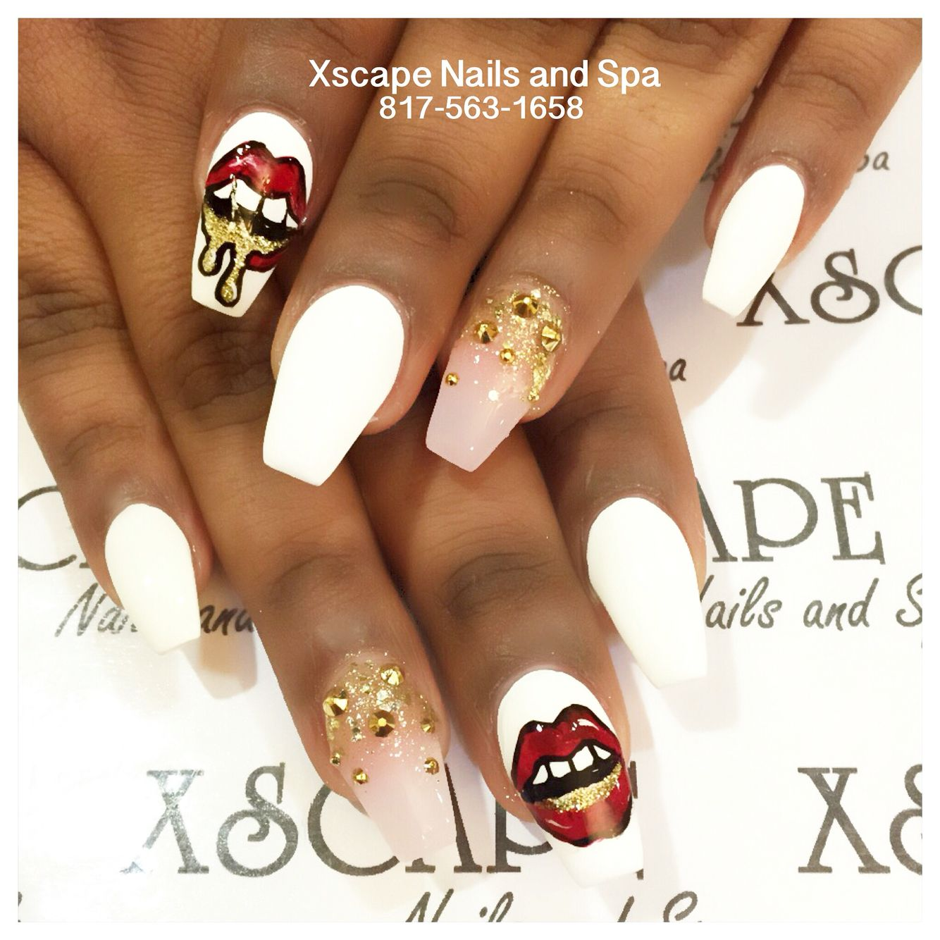 Gold ombré lip nail designs | Cute Nails Designs | Pinterest | Lips ...
