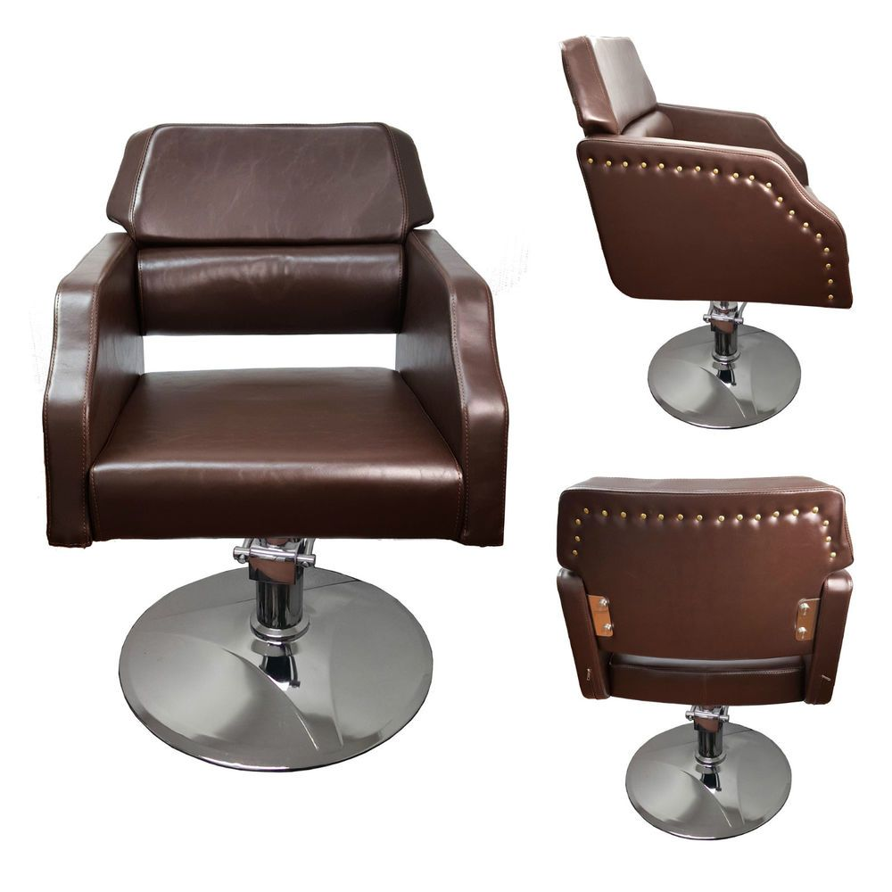 Brown Salon Chair Styling Fashion Barber Hairdressing 999196 102 In Health Beauty Salon Spa Salon Tables Chairs Dryers Ebay Salon Chairs Salons Barber