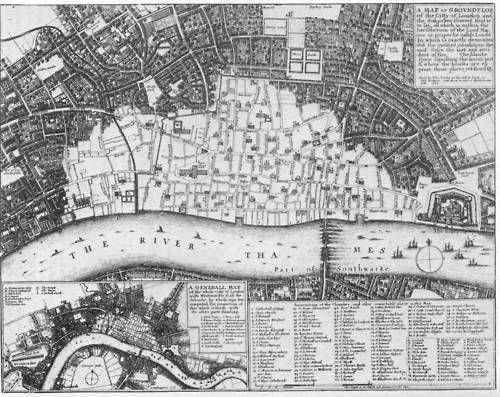 London in 1666 (year of the Great Fire)