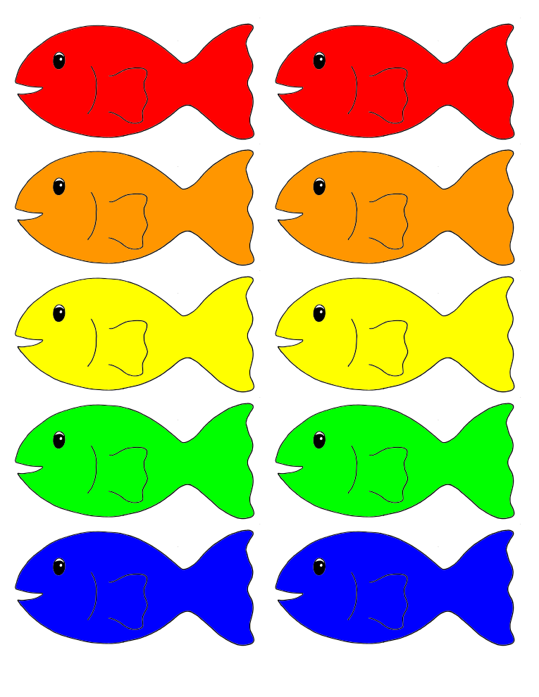 Go Fish Fish Printables Going Fishing Colorful Fish