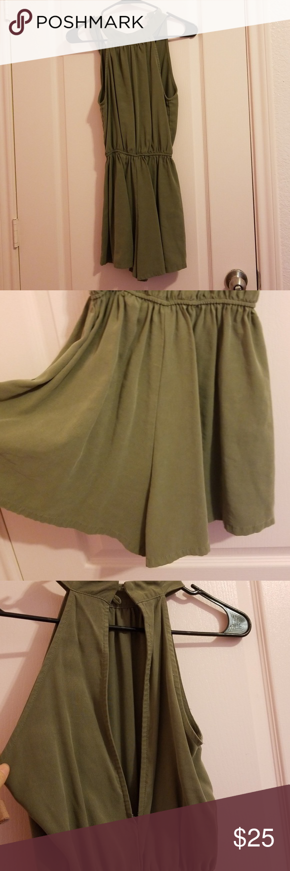 443a191a7704 SIENNA SKY GREEN ROMPER!! Sienna sky army green romper!! Size small and in  great condition!! Soft fabric Sienna Sky Pants Jumpsuits   Rompers