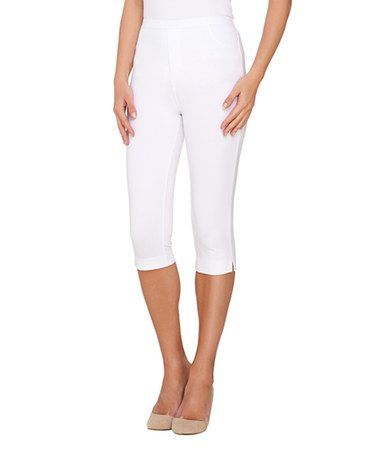 d457f3164841a Love this White Faux-Fly Capri Pants on  zulily!  zulilyfinds ...