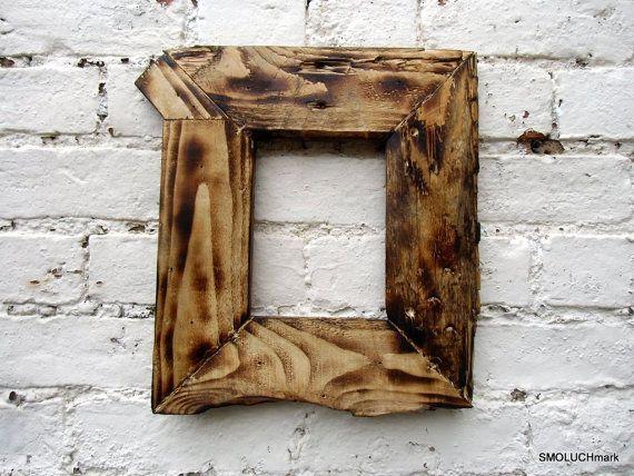 Burned Wooden Frame Old Wood Frame Bilaterial Frame By Smoluchmark