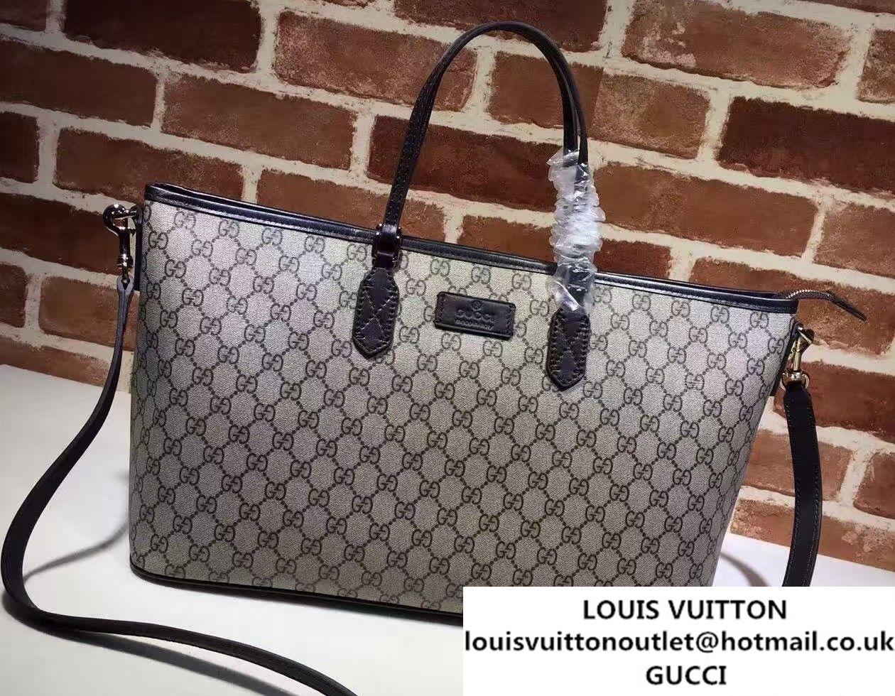 98b7a0ec310b Gucci GG Supreme Medium Tote Bag 410748 Coffee | Bags | Medium tote ...