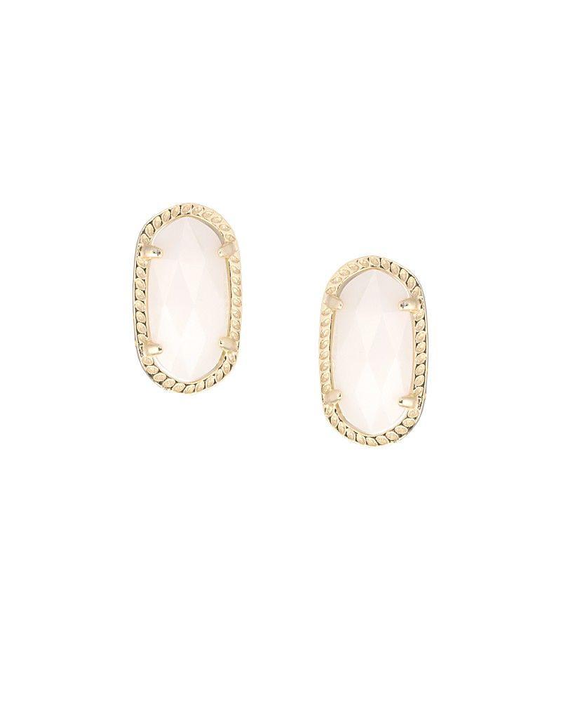 Ellie Stud Earrings in White Pearl Kendra Scott Jewelry Things I