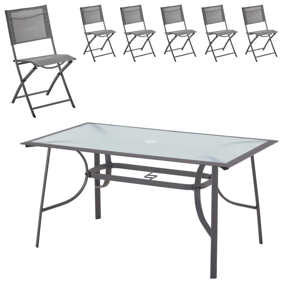 Gartenmöbel-Set Mexico (1 Tisch, 6 Klappstühle) Jetzt bestellen ...