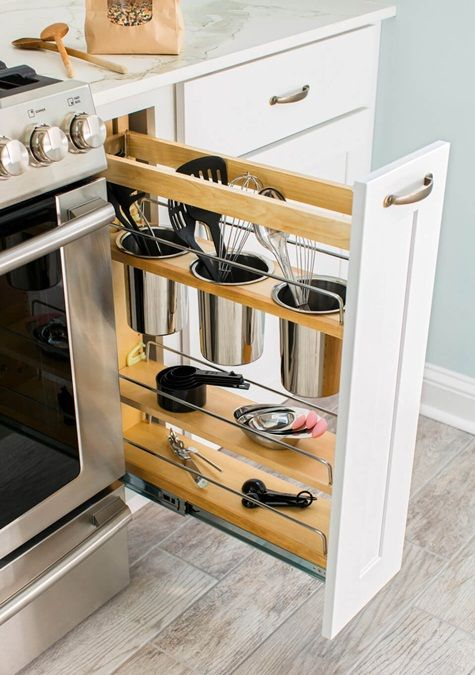 Akcesoria Kuchenne Jak Je Wyeksponowac I Utrzymac W Nich Porzadek Kitchen Remodel Small Kitchen Storage Space Kitchen Design