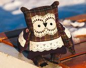 Shubert owl ,  soft art  creature toy creature  by   Wassupbrothers.