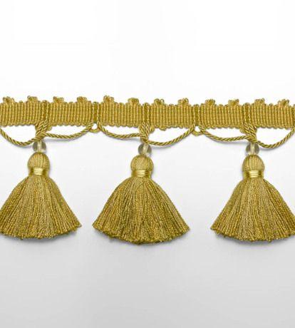 Tassel & Bead Fringe Trimmings by Zoffany   Ref: TMG05012 Colour: Yellow £64.00 / Metre   Jane Clayton