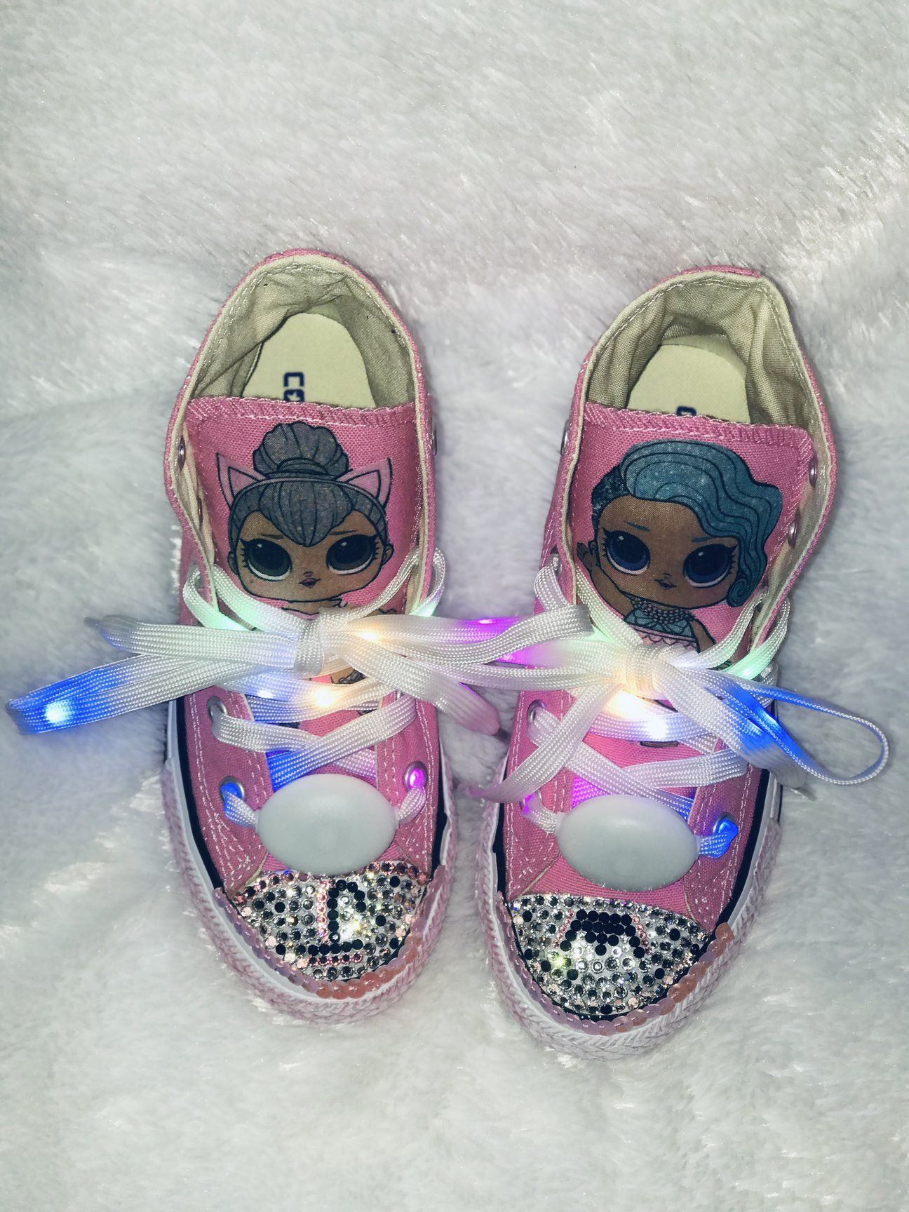 Girls Bling Converse (LOL Surprise) Sneakers | Bling