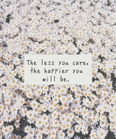 The Less You Care Quotes Flowers Happy Life Care Less Maybe This