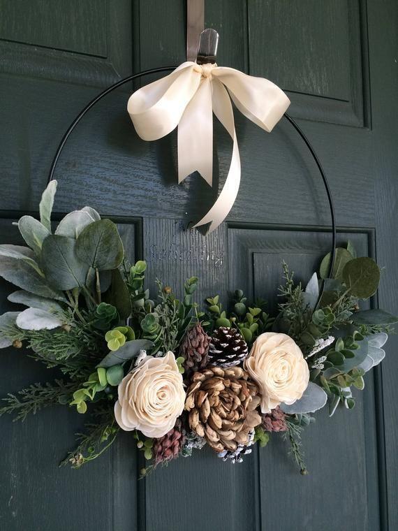 54 DIY Weihnachtskranz Ideen zur Dekoration Ihrer Ferienzeit #holidaycraftschristmas