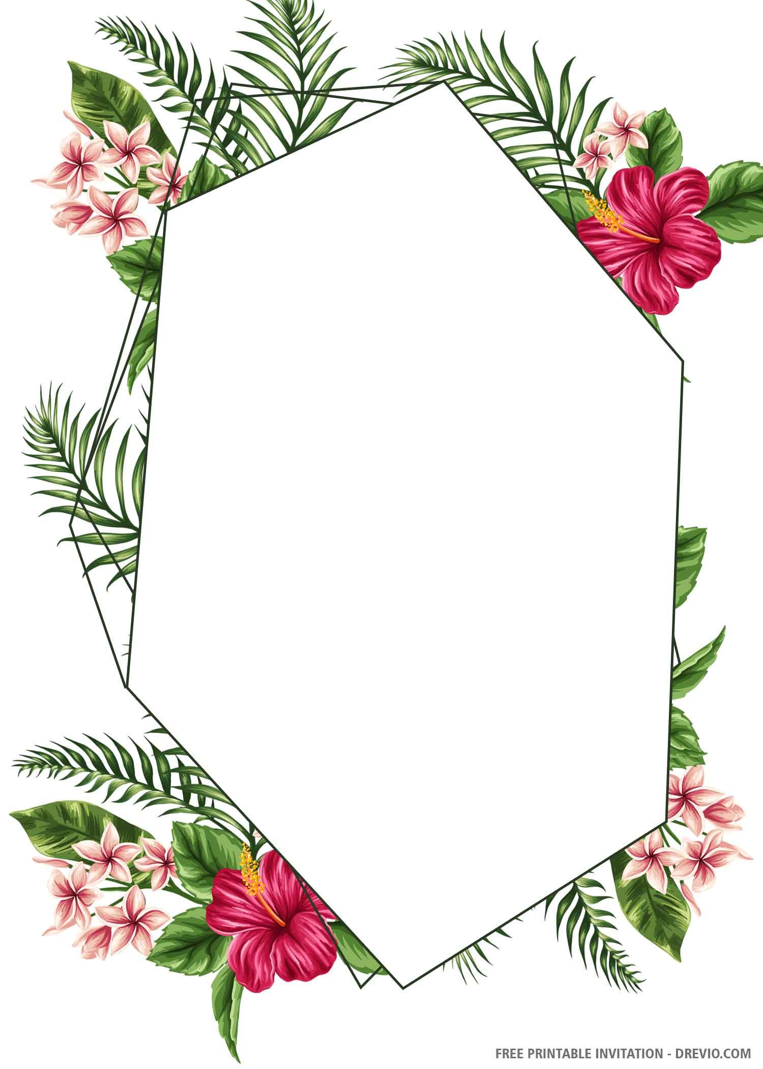 tropical wedding invitations online