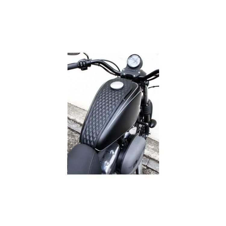 West Eagle Diamond Stitch Tank Cover For Harley Sportster With 3 3 Gallon Tank 2004 2021 10 5 00 Off Revzilla Tank Cover Harley Sportster