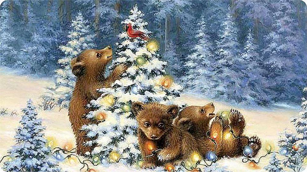 Открытки медвежонок с новым годом, мир открытки видео