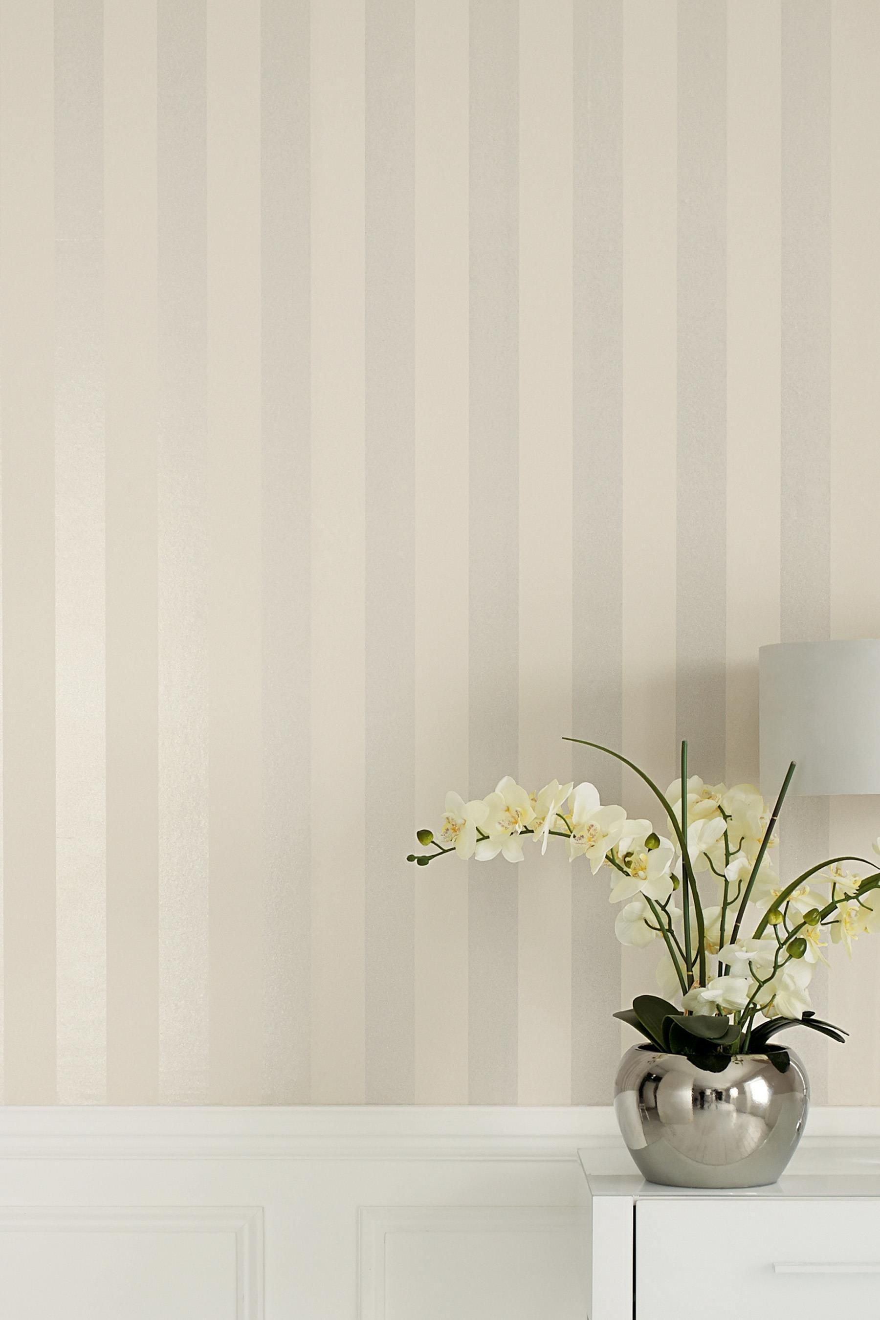 Buy Paste The Wall Glitter Stripe Wallpaper from the Next