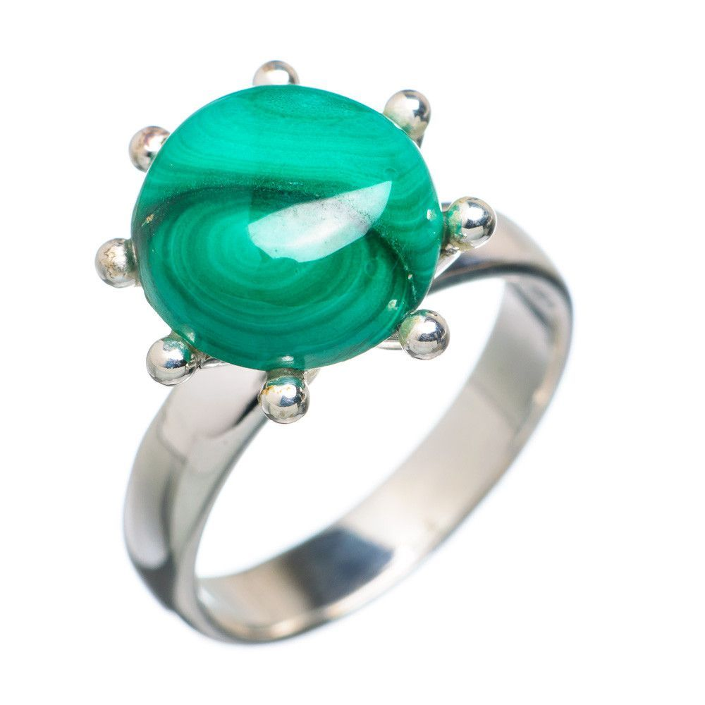 Malachite 925 Sterling Silver Ring Size 5 RING709740