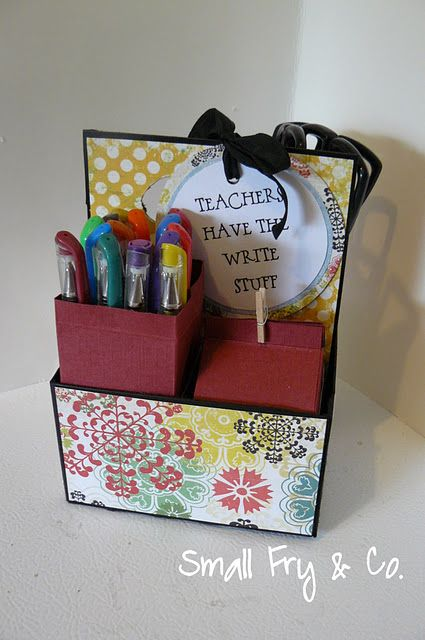 Paper Milk Carton Teacher Gift Idea