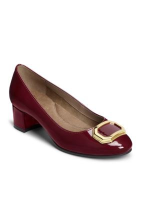 f8734118ad0b Aerosoles Women s Compadre Heel - Red Faux Leather - 10.5M