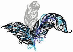 Feather 27 machine embroidery design. Machine embroidery design. www.embroideres.com