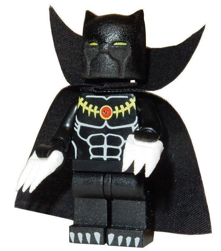 **NEW** LEGO Custom Printed BLACK PANTHER Marvel Universe Minifigure